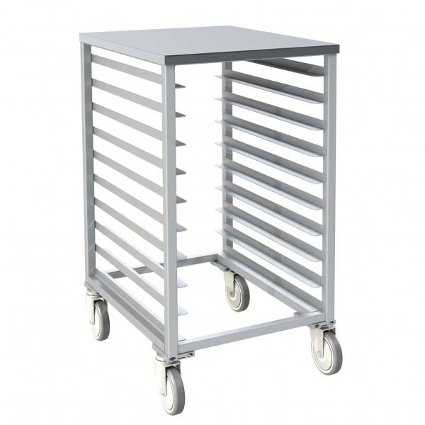 Aluminum Solid Top Half Size Pan Rack