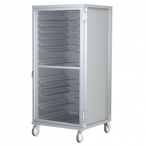 Refrigerator Height Cabinet 12 Pan Capacity with Clear Door