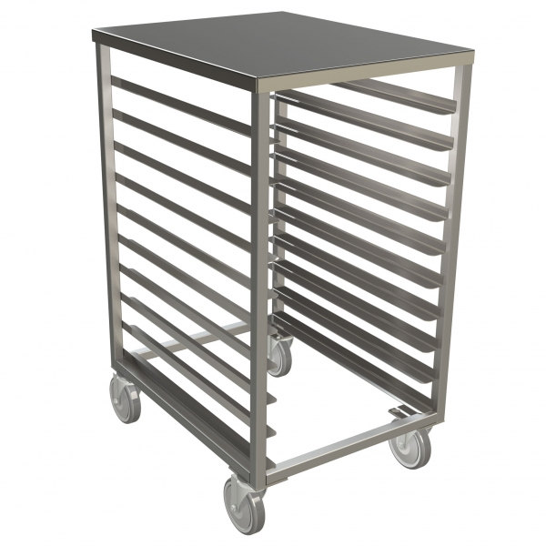 Stainless Steel Solid Top Half Size Pan Rack
