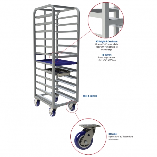 HD Uprights, Cross Braces, Runners & Casters