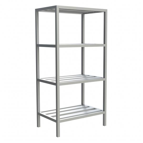 4-Shelf E-Channel Fixed Shelving