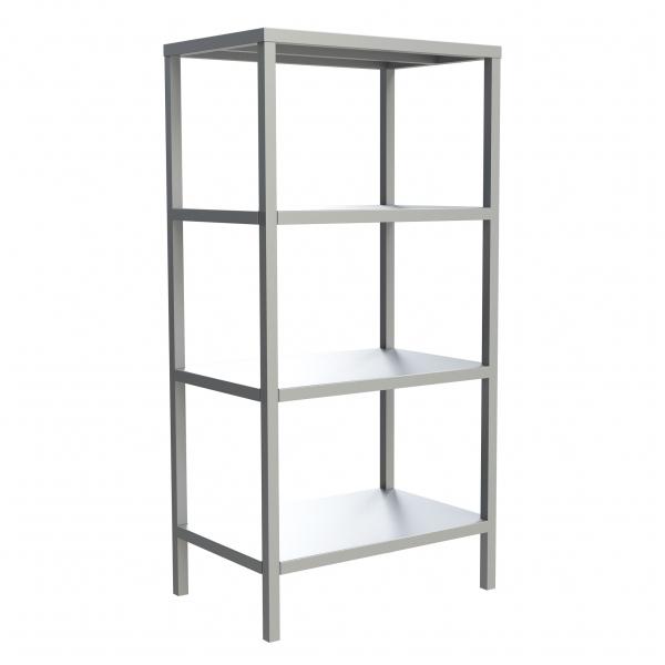 4-Shelf Solid Fixed Shelving