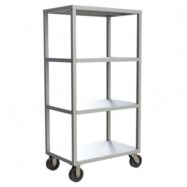 4-Shelf Solid Mobile Shelving