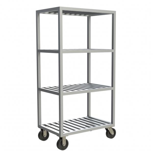 4-Shelf T-Bar Mobile Shelving