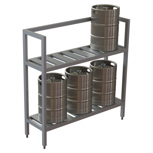 Half Size Fixed Rack w/Open Top for Storage Under Evaporator Coils