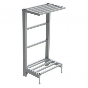 2-Shelf Tubular Cantilever Shelving