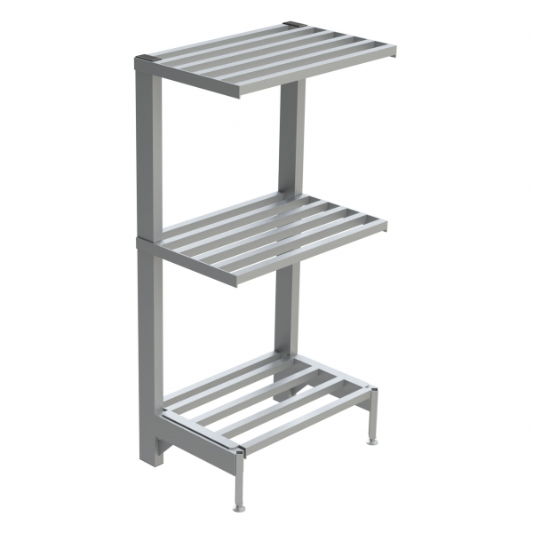 3-Shelf Tubular Cantilever Shelving