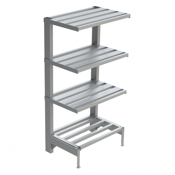 4-Shelf E-Channel Cantilever Shelving