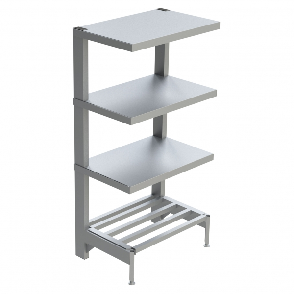 4-Shelf Solid Cantilever Shelving