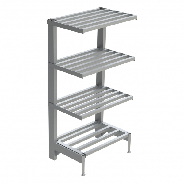 4-Shelf Tubular Cantilever Shelving