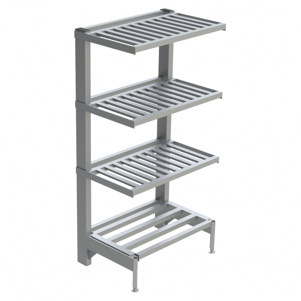 4-Shelf T-Bar Cantilever Shelving