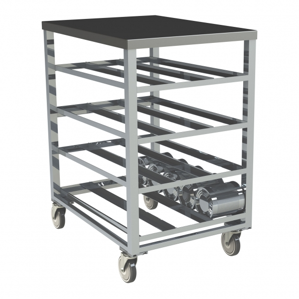 72 Can Capacity, Stainless Steel Top Can Rack