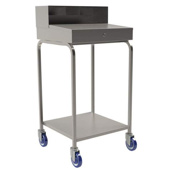 Mobile Stainless Steel Receiving Desk