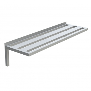 Channel Top Aluminum Wall Shelf