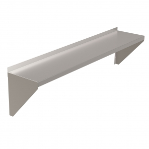 Solid Top Stainless Steel Shelf, Lips Down