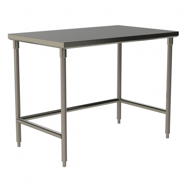 Heavy Duty Flat Top Work Table with Open Base and U-Brace