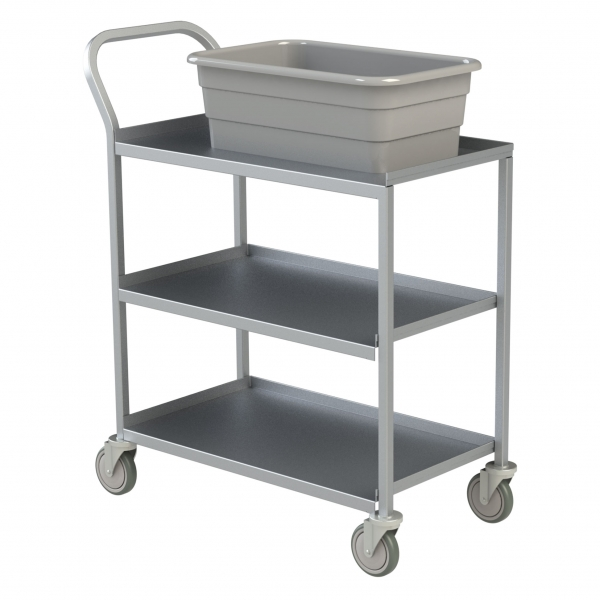 3 Shelf Aluminum Utility Cart