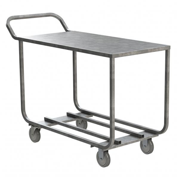 Galvanized Steel Produce Stocking Cart