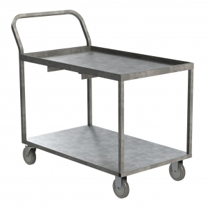 Galvanized Steel Wet Produce Stocking Cart